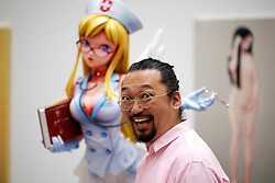 © licensed to London News Pictures. LOCATION:Gagosian.Gallery, 6-24 Britannia Street, London Postcode WC1X 9JD..27_06_11.Exhibition of recent work by renowned Japanese  artist Takashi Murakami. ..Pictured: .Takashi Murakami..Please see special instructions for usage rates. Photo credit should read: Tim Roberts/LNP