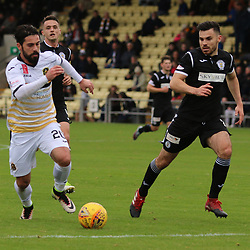 Dimitrios Froxylias breaks into the box  during the Dumbarton v St Mirren Scottish Championship 14 October 2017<br /> <br /> <br /> <br /> <br /> <br /> (c) Andy Scott | SportPix.org.uk