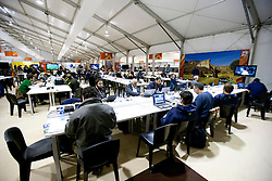 Media centre after the Group A first round 2010 FIFA World Cup South Africa match between South Africa and Mexico at Soccer City Stadium on June 11, 2010 in Johannesburg, South Africa.  (Photo by Vid Ponikvar / Sportida)