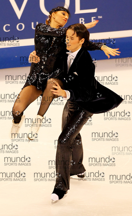 (Ottawa, ON---1 November 2008)  Kristina Gorshkova and Vitali Butikov compete in the Ice Dance original dance at the 2008 HomeSense Skate Canada International figure skating competition.  Photograph copyright Sean Burges/Mundo Sport Images (www.msievents.com).