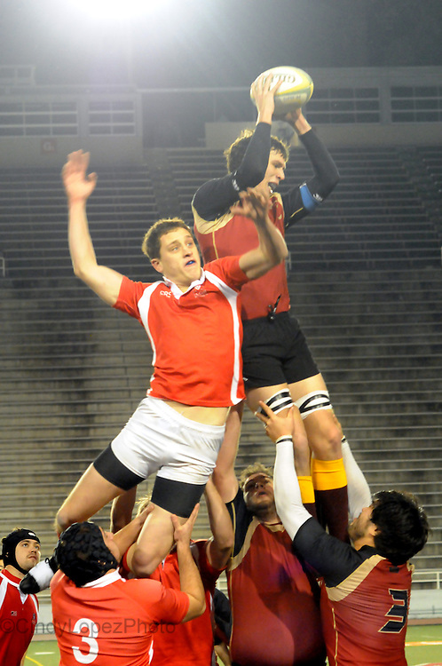 The Rivalry between Concordia and McGill clashed onto the field as their men's rugby teams went head to head in the QSSF final at Molson Stadium. McGill won 22-10. (November 2010).