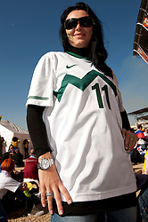 Slavica, sister of Milivoje Novakovic of Slovenia  prior to  the 2010 FIFA World Cup South Africa Group C match between Slovenia and USA at Ellis Park Stadium on June 18, 2010 in Johannesberg, South Africa. (Photo by Vid Ponikvar / Sportida)