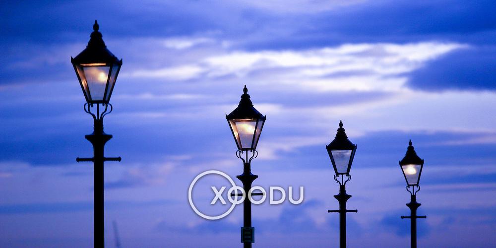Lamp posts ii, Liverpool, England (November 2004)