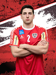 26.10.2018, Raiffeisen Sportpark, Graz, AUT, ÖHB, Fototermin Herren Nationalteam, im Bild Alexander Hermann (AUT) // during a Portrait Photoshoot of the Austrian men' s handball National Team at the Raiffeisen Sportpark, Graz, Austria on 2018/10/26. EXPA Pictures © 2018, PhotoCredit: EXPA/ Sebastian Pucher