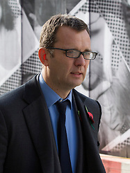 © Licensed to London News Pictures. 30/10/2013. London, UK. Andy Coulson, former editor of the News of the World and ex-Conservative Party communications director, arrives at the Old Bailey in London today (30/10/2013) where he faces charges related to phone hacking during their time at the paper. Photo credit: Matt Cetti-Roberts/LNP