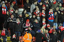 Bristol City fans - Photo mandatory by-line: Dougie Allward/JMP - Mobile: 07966 386802 - 29/01/2015 - SPORT - Football - Bristol - Ashton Gate - Bristol City v Gillingham - Johnstone Paint Trophy