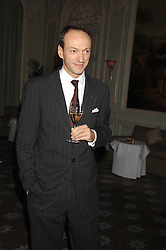 PHILIPPE LEBOEUF Chairman of Claridges at a dinner to celebrate the launch of the Dom Ruinart 1998 vinatage champage at Claridge's, Brook Street, London W1 on 23rd April 2008.<br />