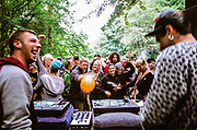 Ravers and DJs and enjoying the music, Wales 2012