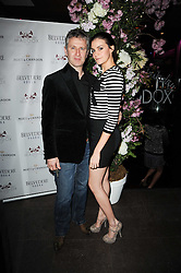 FRED MOSS and his wife FEARNE at the 3rd anniversary party of the Maddox Club, Mill Street, London on 28th April 2010.