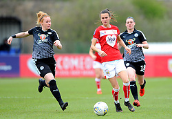 Rachel Furness of Reading Women competes with Rosella Ayane of Bristol City- Mandatory by-line: Nizaam Jones/JMP- 31/03/2019 - FOOTBALL - Stoke Gifford Stadium - Bristol, England - Bristol City Women v Reading Women - FA Women's Super League 1