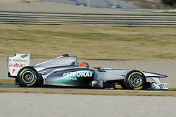 01.02.2011, Street Circuit. Jerez, ESP, Formel 1 Test 1 Valencia 2011,  im Bild Michael Schumacher (GER), Mercedes GP EXPA Pictures © 2011, PhotoCredit: EXPA/ nph/  Dieter Mathis       ****** out of GER / SWE / CRO  / BEL ******
