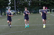 Dundee&rsquo;s Cammy Kerr, new boy Lewis Spence and Jesse Curran during pre-season testing at University Grounds, Riverside, Dundee, Photo: David Young<br /> <br />  - &copy; David Young - www.davidyoungphoto.co.uk - email: davidyoungphoto@gmail.com