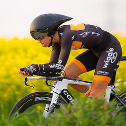 CYCLING 's-Heerenhoek: De eerste tijdrit voor vrouwen in het kader van de tijdritcompetitie werd verreden voorafgaand aan de omloop van Borsele. Megan Gaunier