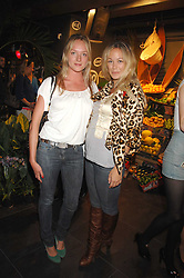 Left to right, NATHALIE BURGEN and ELLIE SHEPHERD at the launch of the Desigual flagship store at 222 Regent Street, London W1 on 28th June 2007.<br /><br />NON EXCLUSIVE - WORLD RIGHTS