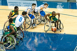 June 9, 2017 - Toronto, Ontario, Canada - Players on the field during the basketball game - South Africa vs France  during 2017 Men's U23 World Wheelchair Basketball Championship which takes place in Ryerson's Mattamy Athletic Centre, Toronto, ON, in June 08 -16, 2017  (Credit Image: © Anatoliy Cherkasov/NurPhoto via ZUMA Press)