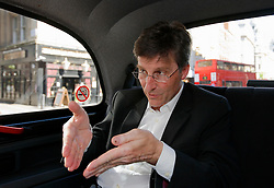 UNITED KINGDOM LONDON 2JUN09 - Michel Parmigiani, president of Parmigiani Fleurier SA rides in a London black cab whilst being interviewed...jre/Photo by Jiri Rezac..© Jiri Rezac 2009