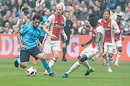 02-10-2016: Voetbal: Ajax v FC Utrecht: Amsterdam<br /> <br /> (L-R) FC Utrecht speler Yassin Ayoub tijdens het Eredivsie duel tussen Ajax en FC Utrecht op 2 oktober 2016 in stadion Arena in Amsterdam tijdens speelronde 8<br /> <br /> Eredivisie - Seizoen 2016 / 2017<br /> <br /> Foto: Gertjan Kooij