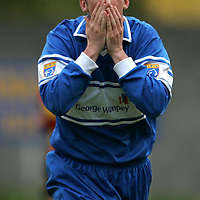 St Johnstone v Partick Thistle....04.11.06<br />Paul Sheerin reacts after his shot blasts against the cross bar<br />Picture by Graeme Hart.<br />Copyright Perthshire Picture Agency<br />Tel: 01738 623350  Mobile: 07990 594431