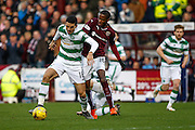 Celtic FC Midfielder Tom Rogic on the attack during the Ladbrokes Scottish Premiership match between Heart of Midlothian and Celtic at Tynecastle Stadium, Gorgie, Scotland on 27 December 2015. Photo by Craig McAllister.