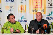 BELGIUM / TELENET FIDEA CYCLING TEAM / CYCLOCROSS / VELDRIJDEN / 2012-2013 / PRESS CONFERENCE / PERSCONFERENTIE NAAR AANLEIDING VAN HET BK / COACH DANNY DE BIE / TEAM MANAGER HANS VAN KASTEREN /