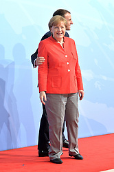 July 7, 2017 - Hamburg, Deutschland - Emmanuel Macron President France, Angela Merkel Federal Chancellor Germany.Offizielle Begruessung der G20-Staats- und Regierungschefs, Hamburg, Germany - 07 Jul 2017.Credit:.Credit: Timm/face to face (Credit Image: © face to face via ZUMA Press)