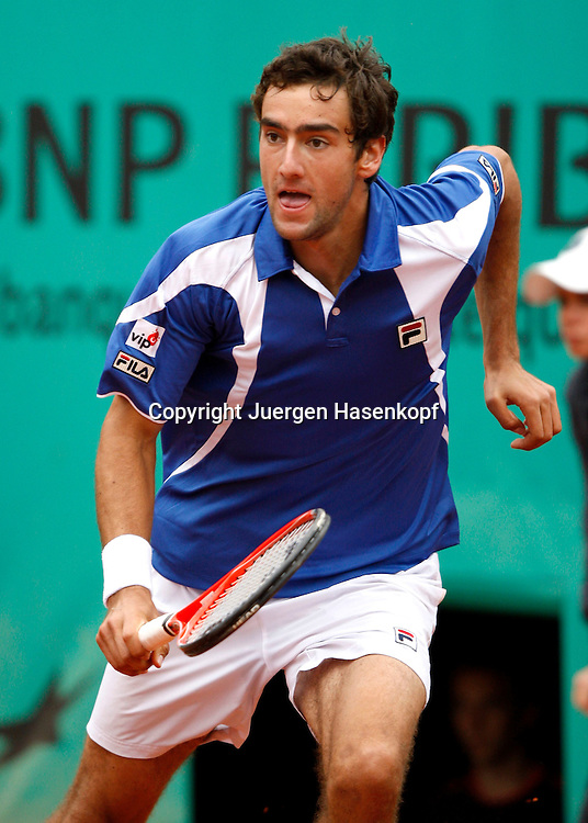 French Open 2010, Roland Garros, Paris, Frankreich,Sport, Tennis, ITF Grand Slam Tournament, ..Marin Cilic (CRO) ..Foto: Juergen Hasenkopf..