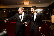 JAMES CORDEN; DOMINIC COOPER, The Laurence Olivier Awards, The Grosvenor House Hotel. Park Lane. London. 8 March 2009 *** Local Caption *** -DO NOT ARCHIVE -Copyright Photograph by Dafydd Jones. 248 Clapham Rd. London SW9 0PZ. Tel 0207 820 0771. www.dafjones.com<br /> JAMES CORDEN; DOMINIC COOPER, The Laurence Olivier Awards, The Grosvenor House Hotel. Park Lane. London. 8 March 2009