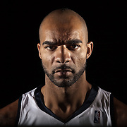 Utah Jazz player Carlos Boozer portrait for special section. Photo taken in Salt Lake City, Utah, Monday, Oct. 12, 2009. August Miller, Deseret News