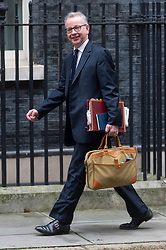 © Licensed to London News Pictures. 08/01/2020. London, UK. Chancellor of the Duchy of Lancaster Michael Gove arrives at No.10 Downing St. Photo credit: Ray Tang/LNP