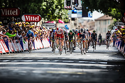 Sprint to victory with Heinrich Haussler (AUS) of IAM Cycling and Alexander Kristoff (NOR) of Team Katusha , Tour de France, Stage 15: Tallard / Nîmes, UCI WorldTour, 2.UWT, Nîmes, France, 20th July 2014, Photo by BrakeThrough Media