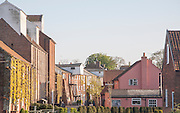 Nineteenth century industrial buildings converted into leisure, shopping, housing and cultural uses, Snape Maltings, Suffolk, England