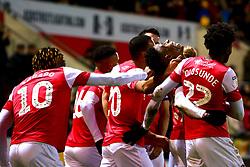 Rotherham United players celebrate their third goal - Mandatory by-line: Ryan Crockett/JMP - 18/01/2020 - FOOTBALL - Aesseal New York Stadium - Rotherham, England - Rotherham United v Bristol Rovers - Sky Bet League One