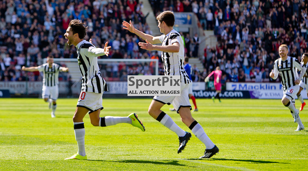 Dunfermline Athletic v Cowdenbeath SPFL League One Season 2015/16 East End Park 15 August 2015<br /> Faissal El Bakhtaoui celebrates opening the scoring<br /> CRAIG BROWN | sportPix.org.uk
