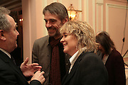 Jeremy Irons and Sinead Cusack, Oldie of the Year Awards. Simpsons-in-the-Strand. London. 13 March 2007.  -DO NOT ARCHIVE-© Copyright Photograph by Dafydd Jones. 248 Clapham Rd. London SW9 0PZ. Tel 0207 820 0771. www.dafjones.com.