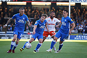 Peterborough United midfielder Marcus Maddison (21) charging forward during the EFL Sky Bet League 1 match between Peterborough United and Blackpool at The Abax Stadium, Peterborough, England on 29 September 2018.