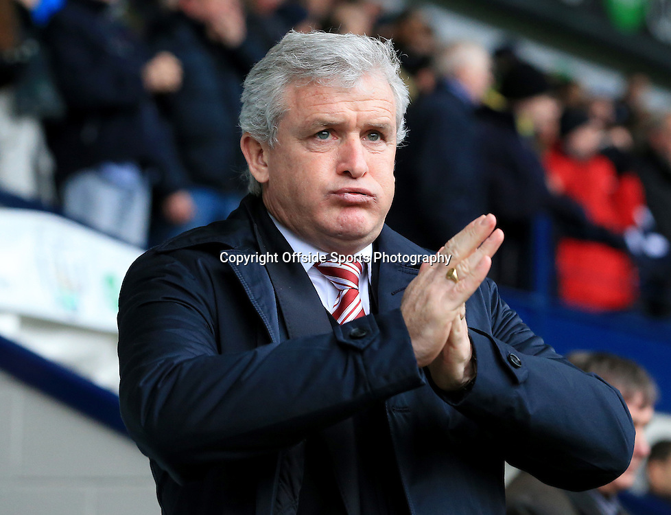 14th March 2015 - Barclays Premier League - West Bromwich Albion v Stoke City - Stoke manager Mark Hughes - Photo: Paul Roberts / Offside.