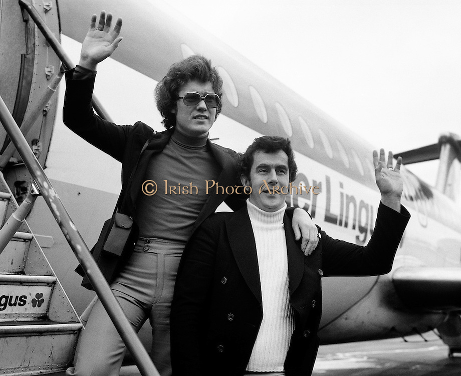 Singer Red Hurley and composer Brendan Graham head off for the Eurovision Song Contest in The Hauge. The song 'When' came 10th in the contest, which was won by Brotherhood of Man with 'Save Your Kisses for Me'.<br />