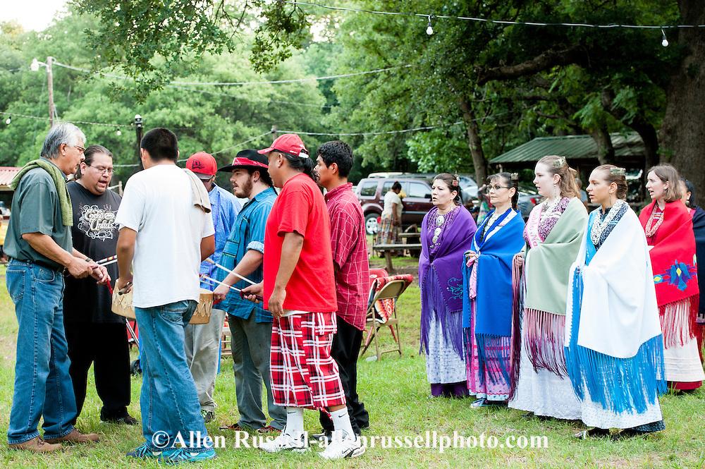 Drum dance, Murrow Powwow, Caddo Nation, Indians, Native Americans, Binger, Oklahoma