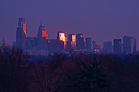 Philadelphia Skyline, Fairmount Park