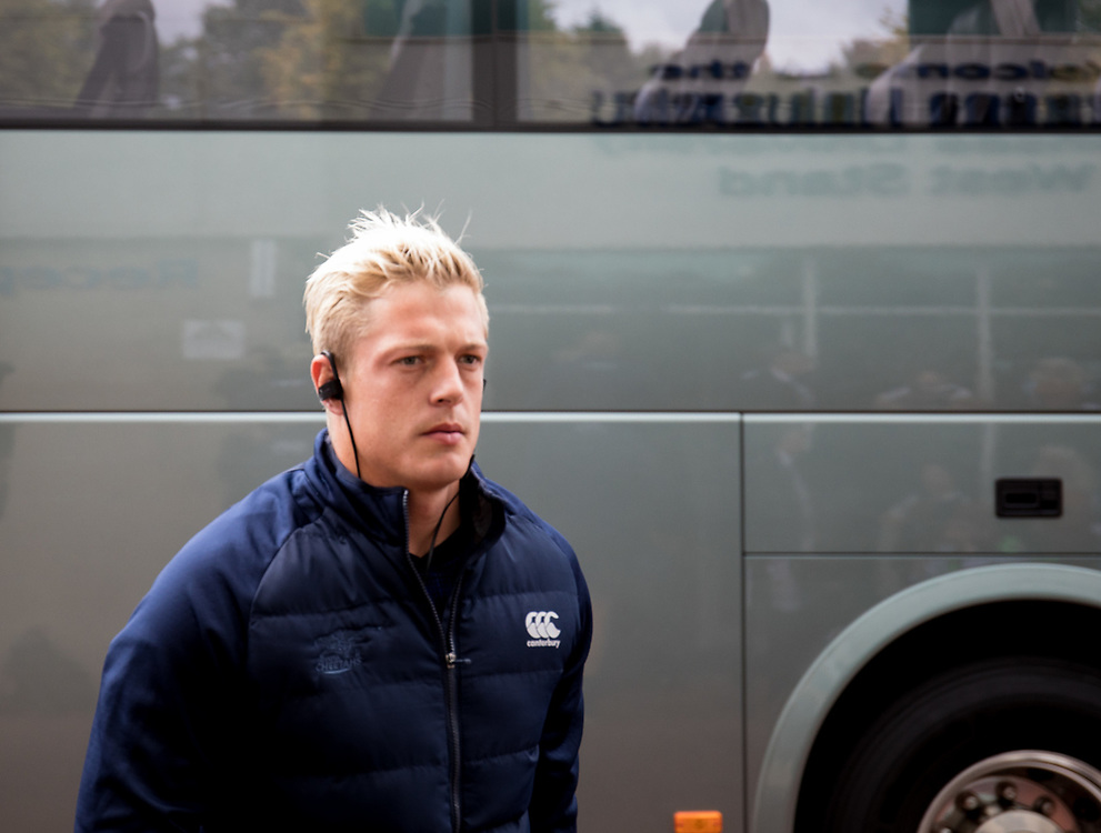 Tiaan Schoeman of Cheetahs arrives at the stadium<br /> <br /> Photographer Simon King/Replay Images<br /> <br /> Guinness PRO14 Round 2 - Ospreys v Cheetahs - Saturday 8th September 2018 - Liberty Stadium - Swansea<br /> <br /> World Copyright © Replay Images . All rights reserved. info@replayimages.co.uk - http://replayimages.co.uk
