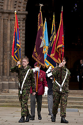 © under licence to London News Pictures 14/11/2010. Remembrance service at Lincoln Cathedral today (Sun) to pay respects to all who those who lost their lives in current and past conflicts, including the First and Second World Wars. Photo Credit should read: Dave Warren/ London News Pictures