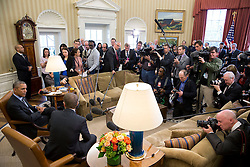 President Barack Obama and European Council President Donald Tusk deliver statements to the press prior to a bilateral meeting in the Oval Office, March 9, 2015. Official White House Photo by Pete Souza)<br /> <br /> This official White House photograph is being made available only for publication by news organizations and/or for personal use printing by the subject(s) of the photograph. The photograph may not be manipulated in any way and may not be used in commercial or political materials, advertisements, emails, products, promotions that in any way suggests approval or endorsement of the President, the First Family, or the White House.
