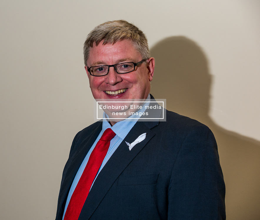North Berwick, East Lothian, Scotland, United Kingdom, 28 November 2019. General Election: First hustings for the 5 candidates seeking election as MP for East Lothian. Pictured: sitting MP Martin Whitfield, Scottish Labour Party candidate. <br /> Sally Anderson | EdinburghElitemedia.co.uk