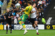 Preston - Saturday September 18th, 2010: Chris Martin of Norwich and Sean St. Ledger of Preston in action during the Npower Championship match at Deepdale, Preston. (Pic by Paul Chesterton/Focus Images)