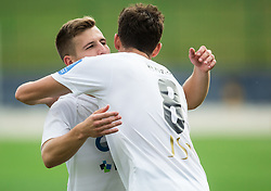 Klemen Sturm of NK Krsko and Roko Nakic of NK Krsko celebrate after winning during football match between ND Ilirija 1911 and NK Krsko in 1st Round of Slovenian Football Cup 2017/18, on August 16, 2017 in Stadium Ilirija, Ljubljana, Slovenia. Photo by Vid Ponikvar / Sportida