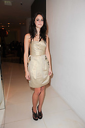 Kaya Scodelario at a party to celebrate Lancome's 10th anniversary of sponsorship of the BAFTA's in association with Harper's Bazaar magazine held at St.Martin's Lane Hotel, London on 19th February 2010.
