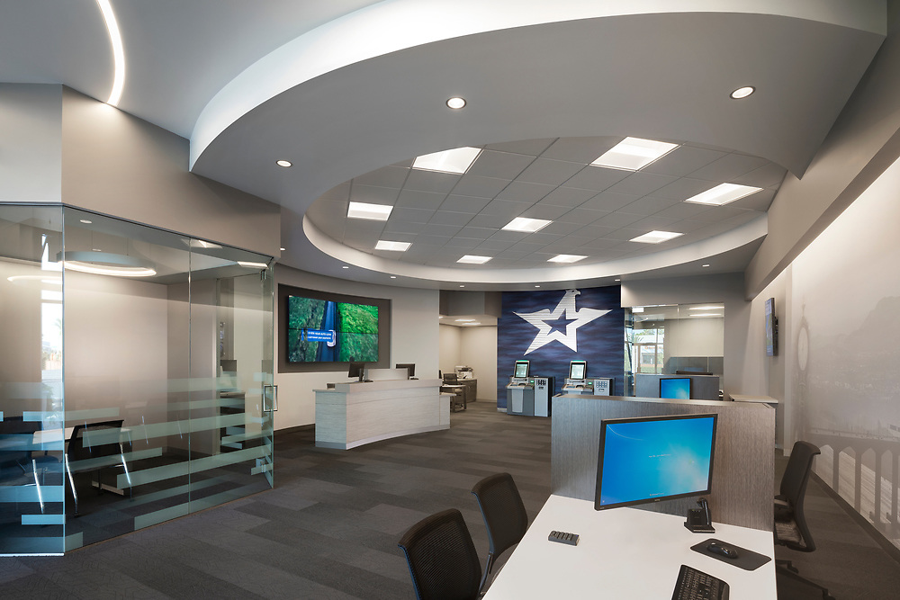Interior of Travis Credit Union Concord, CA