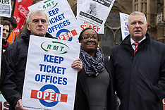15 Jan. 2014 - RMT protest against job cuts on London Underground at Parliament