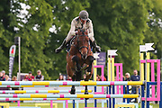 Tess Heutiere Mili ridden by Didier Willefert Adc in the Equi-Trek CCI-4* Show Jumping during the Bramham International Horse Trials 2019 at Bramham Park, Bramham, United Kingdom on 9 June 2019.