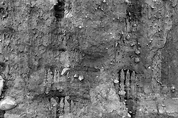 detail of a cliff in Montauk,NY